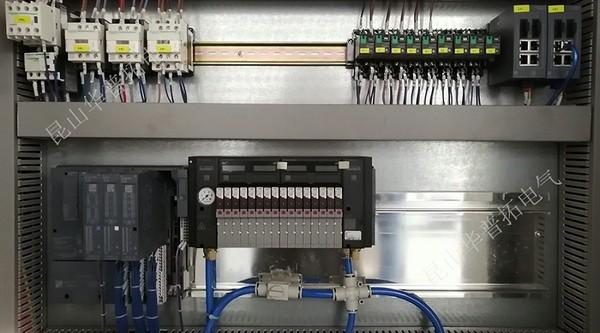 电气控制柜内部细节展示 德国宝德Burkert电磁阀阀岛